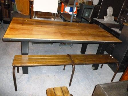 table industrielle, brocantetendance