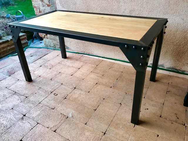 table industrielle brocantetendance fabrication
