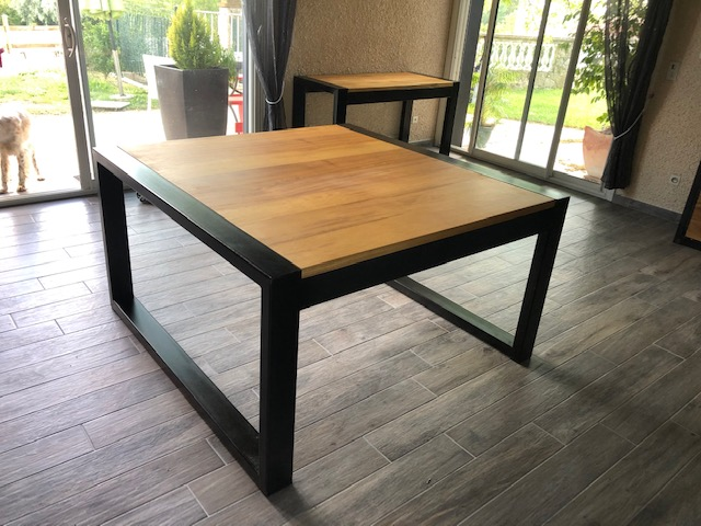 table design industriel dur mesure