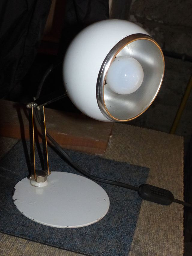 lampe industrielle de bureau EYE BALL 1970