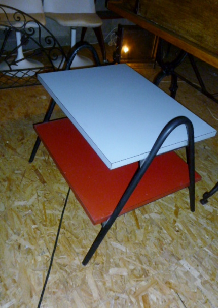 table basse design bicolore 1950